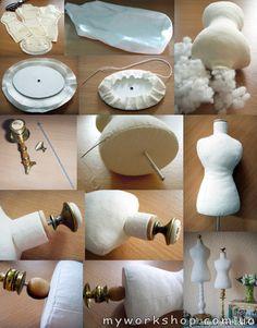 Мини-манекен (МК) On these wonderful dress forms, will be a beautiful way to display Hankies dresses! - Songül Aldı Мини-манекен (МК) On these wonderful dress forms, will be a beautiful way to display Hankies dresses! Diy Sewing Projects, Sewing Hacks, Sewing Crafts, Sewing Tips, Sewing Art, Ideias Diy, Sewing Accessories, Diy Dress, Dress Form
