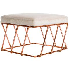 Aperture: Ottoman in Copper by TJ Volonis | 1stdibs.com