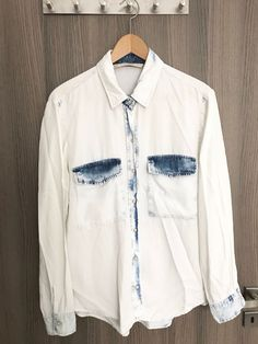 Buy and sell beautiful things super easily with Shpock. Denim Button Up, Button Up Shirts, Denim Style, White Denim, Denim Fashion, Awesome, Check, Stuff To Buy, Tops