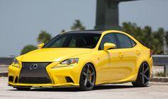 Yellow Lexus GS 450h
