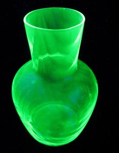 Vintage Green Glass Drape Optic Tumble Up Jar Bottle by ddb7, $30.00