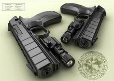 Картинки по запросу Sci fi double pistols