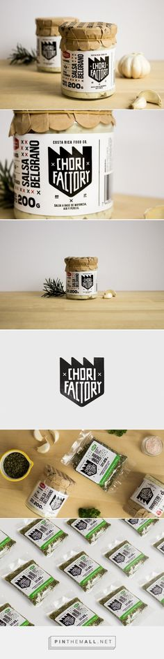 Chorifactory sauce & spices packaging design by Jorge García - http://www.packagingoftheworld.com/2017/06/chorifactory.html