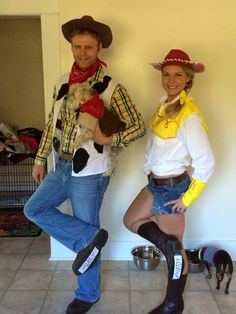 Went all out this year and made my own diy jessie the cowgirl woody jessie and bullseye costumes solutioingenieria Gallery