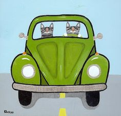 Ryan Conners' Cat Folk Art