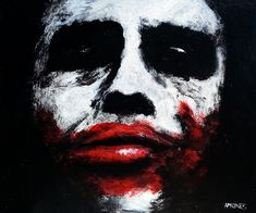Joker  Inspired by actor: The late Heath Ledger, Acrylics