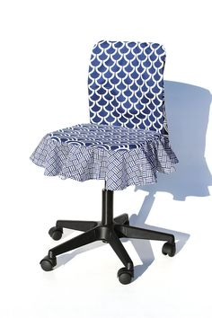 Back to School Dorm Decor DIY Chair Slipcover How by StudioCherie