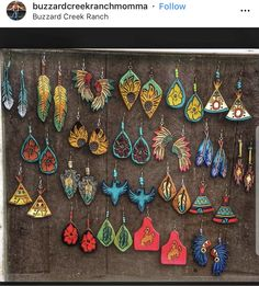 Diy Leather Earrings, Leather Jewelry, Leather Craft, Cowgirl Jewelry, Western Jewelry, Cute Jewelry, Jewelry Crafts, Leather Working Patterns, Leather Tooling