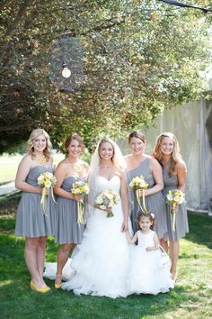 Grey And Yellow Wedding In Napa Valley