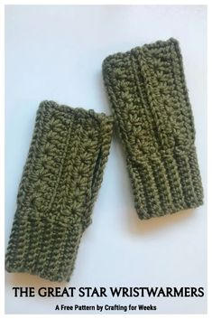 Crochet Fingerless Gloves Free Pattern, Mittens Pattern, Fingerless Mittens, Free Crochet, Knit Crochet, Crochet Hats, Crochet Granny, Knitting Patterns, Crochet Patterns