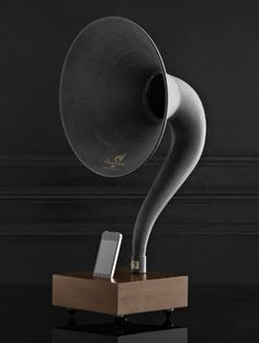 iphone gramophone | from restoration hardware