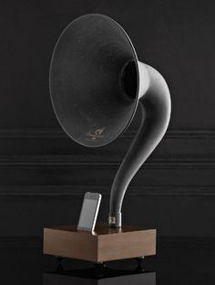 iphone gramophone | from restoration hardware