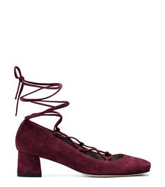 The CORDON is a corset-inspired must-have is finished with elegant nappa laces and a bold block heel. Wear these lace-up flats with slim cropped trousers, a gauzy peasant blouse and a skinny scarf.