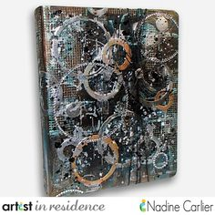 Mixed media 3 ring binder from @spellbinders Seth Apter collection using lots of @imaginecrafts products by @scrappinready with video.