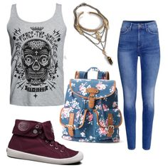 Untitled #75 by alicia-mafli on Polyvore featuring polyvore fashion style Candie's H&M