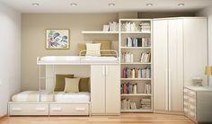 10 Tipps für kleine Schlafzimmer Innenarchitektur saubere gemütliche Atmosphäre weiß Innenarchitektur platzsparende Lösung suspendiert Bett