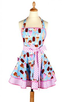 apron ice ice baby 685x1024 Kitchen Aprons, Made in France!