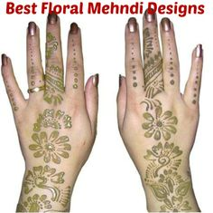 Best Floral Mehndi Designs