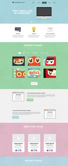 15 best PSD website templates for 2014 Photo