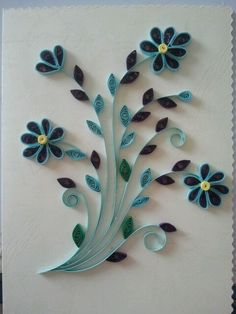 Quilled greeting card.