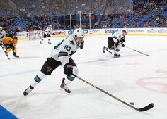 San Jose Sharks forward Matt Nieto skates with the puck (Nov. 18, 2014).