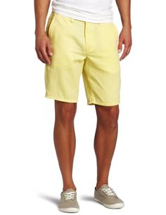 Toddland Men's Greatest In The Universe Slim Fit Short, Pale Yellow, 36 - Ever try and hem your own pants? And you end up going higher and higher? And then you end up with the greatest shorts in the universe? No? Just toddland? Product Features  Slim