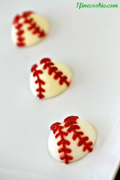 baseball deviled eggs stuffed with bacon and lobster    http://www.1finecookie.com/2012/05/baseball-deviled-eggs-stuffed-with-lobster-bacon-get-to-fourth-base-with-this-recipe/#deviled baseball eggs stuffed with lobster and bacon