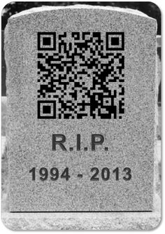The death of the QR code?  They don't seem to have lasting power.