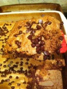 Delicious Homemade Non-Dairy (optional) Peanut Butter Bars --YUM!  They are actually healthy too!
