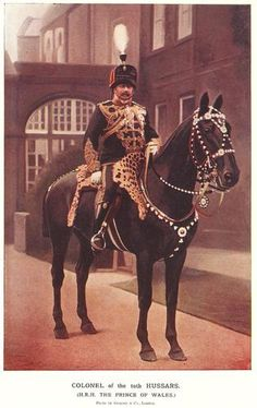 MILITARY C1900 PRINT BOER WAR - COLONEL 10TH HUSSARS - HRH PRINCE OF WALES