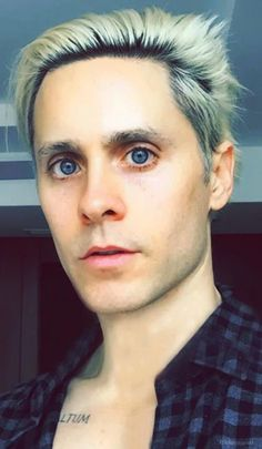 My Gosh - Look at those very big & very blue Eyes... Snapchat edit of Jared Leto April 2015