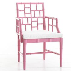 Chinese Chippendale Chair - Tulip Pink