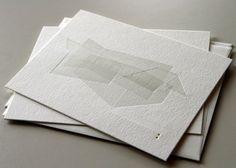 letterpress card // overlap passes