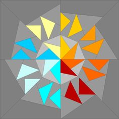 (7) Name: 'Quilting : Circle of Geese 4