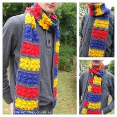 I wish I knew how to Crochet.  I'd make this for Grant. Lego Brick Crochet Scarf