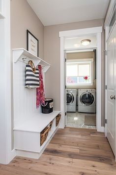 Hardwood Floors, Flooring, Painting Trim, Parade Of Homes, Coat Hanger, New Builds, Cubbies, Mudroom, Storage Solutions