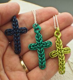 SALE 1 PETITE Chainmaille Cross Pendant Kit  by UnkamenSupplies, $5.00