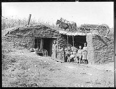 Dugout on the South Loup River, near Virge Allen Homestead, Custer County, Nebraska, 1892