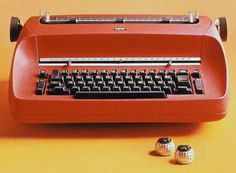"""Eliot Noyes, IBM Selectric typewriter, 1961. Noyes collaborated with Paul Rand, Marcel Breuer and Charles Eames –  the first """"house style"""" program in American business. (wiki)"""