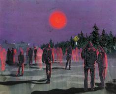 Kim Dorland // Blood Moon 2015