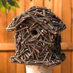 Small Twig Birdhouse - reface an old bird house