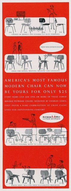 Eames Studio: Adverts for Molded Plywood Campaign