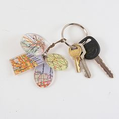 Birthplace Map Keychain Charms | Spoonful - Cute idea. See about using other focuses as well.