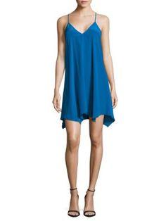 AMANDA UPRICHARD Silk Slip Dress. #amandauprichard #cloth #dress