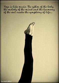 yoga inspiration   Tumblr - Yoga is like music.... #yoga