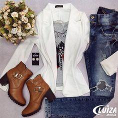 Dica: o blazer é uma peça versátil que não pode faltar no seu closet! Recebemos novidades em cores e modelos! ❤️ #luizamodas #lookdodia #lookinspiracao #moda #tendencia #novidade #Bottero #vendasonline #previewoutono #venhaseapaixonar
