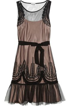 ALICE by Temperley Emerald embroidered tulle dress
