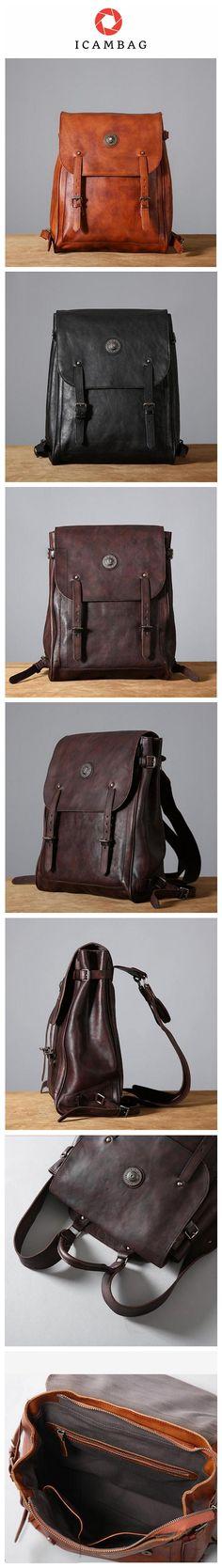 de2e6c0cda New Design Top Grain Leather Backpack