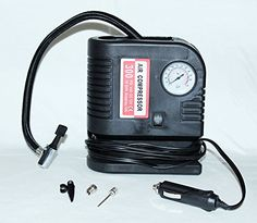 PrimeTrendz TM 300 PSI Portable Air Compressor – Tire Inflator – 12V