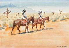 Leonard Howard Reedy - Apache Scouts Watercolor kp